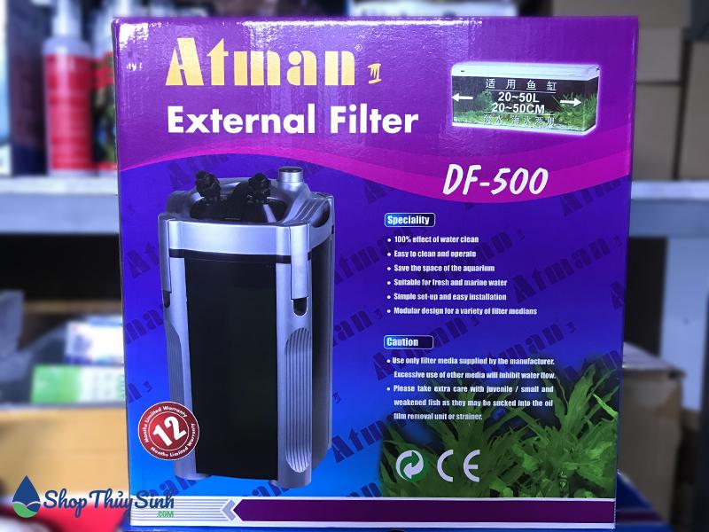 Lọc thùng Atman DF-500 dành cho hồ thủy sinh nhỏ