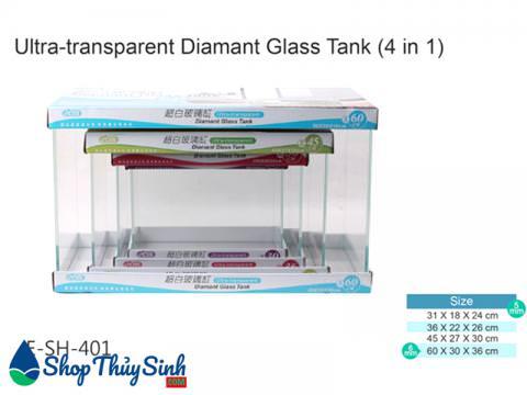 Bể cá siêu trong mini Ista Ultra Diamant Glass Tank
