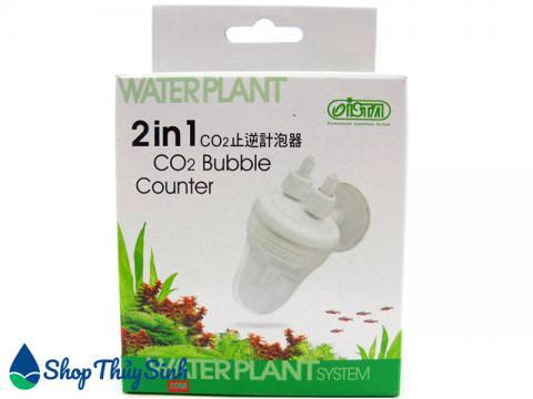 Bộ đếm giọt co2 kèm van 1 chiều Ista CO2 Bubble Counter