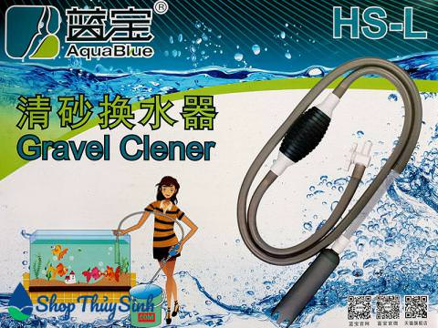 Bóp tay thay nước cho hồ cá Aquablue HS-L