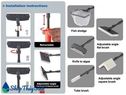 Cây vệ sinh hồ cá đa năng HugeSun BS-669