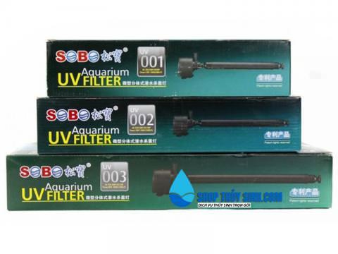 Đèn UV diệt khuẩn và rêu hại Sobo kết hợp bơm thổi tạo khí oxy
