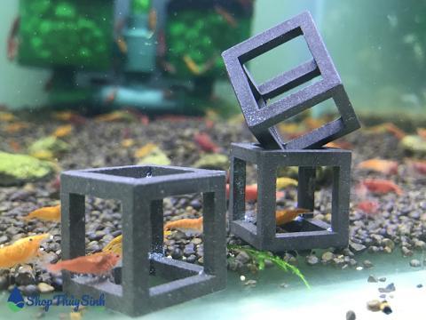 Đồ chơi cho tép cảnh dạng hình vuông cubic dễ thương