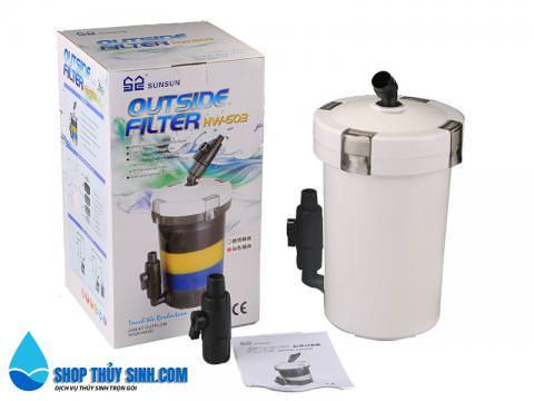 Lọc phụ cho hồ thủy sinh SunSun HW-603 loại không bơm và có bơm