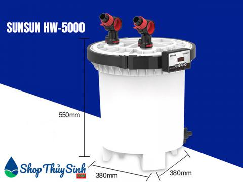 Lọc thùng thủy sinh sunsun HW-5000 kèm uv diệt khuẩn