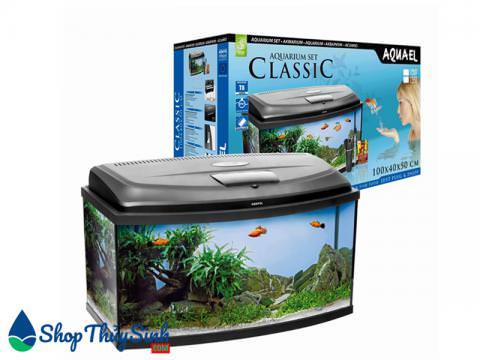 Mẫu bể cá mini nhập khẩu Aquael Classic Oval Aquarium Set 40