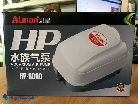Máy sủi oxy Atman HP-8000 sử dụng cho 15-20 hồ