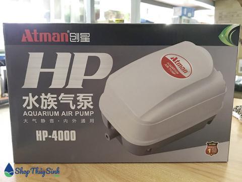Máy sủi oxy Atman HP-4000 sử dụng cho 10 hồ cá