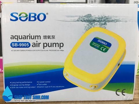 Máy sủi oxy cao cấp Sobo SB-9905 loại 2 vòi không gây ồn