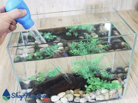 Ống hút cặn đáy vệ sinh hồ cá hoặc hút thức ăn cho cá
