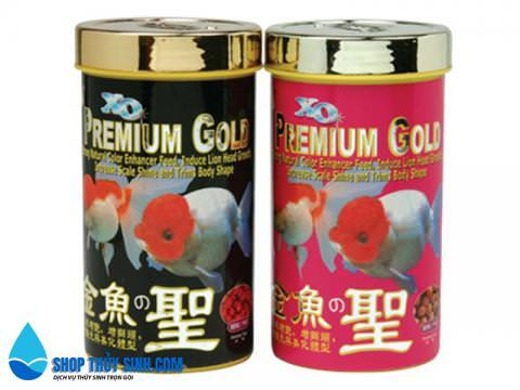 Thức ăn cho cá vàng Ranchu đầu lân XO PREMIUM GOLD